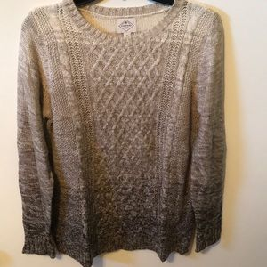 Sweaters - Brown ombré sweater